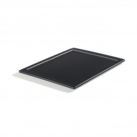 Mealplak anthracite long service tray Nacryl