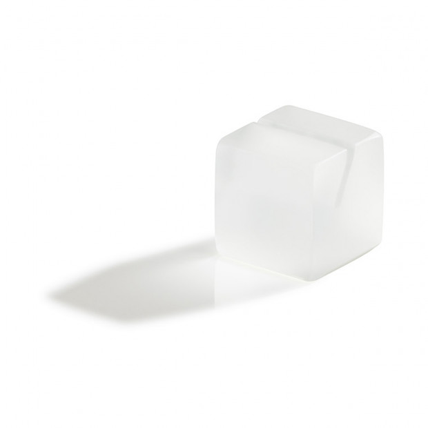 Mealplak white menu cube holder Nacryl