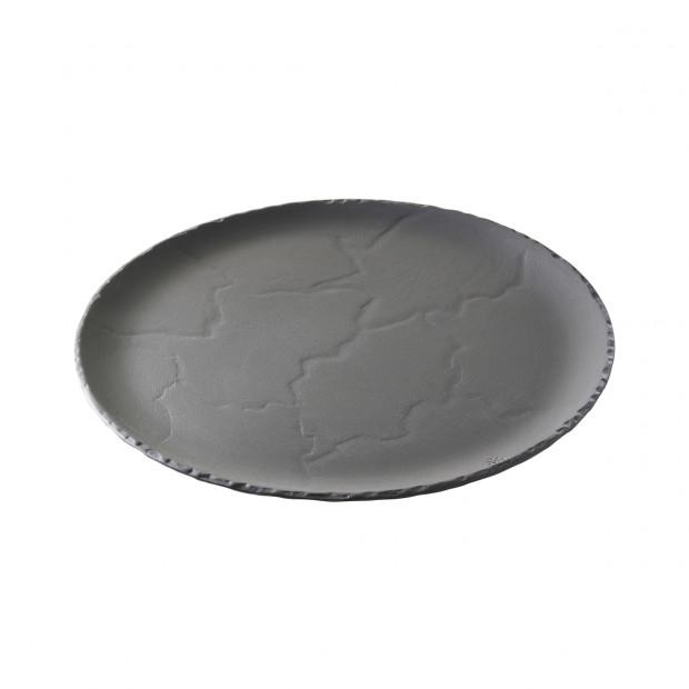 Basalt matt slate style round dinner plate 2 sizes