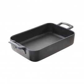 Belle Cuisine black cast iron style rectangular roasting dish 4 sizes