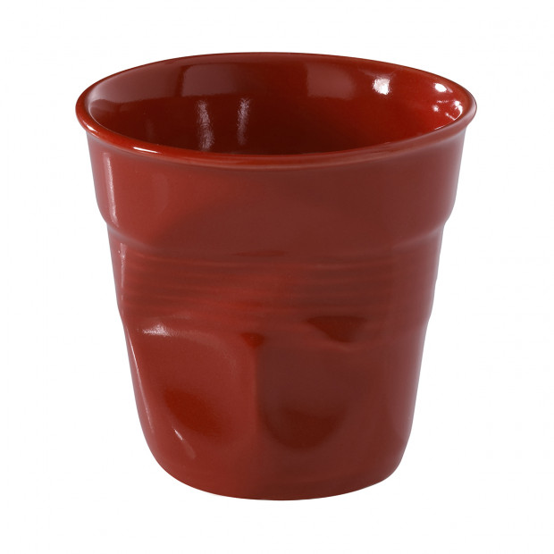 Crumpled coffee cup pepper red 2 sizes