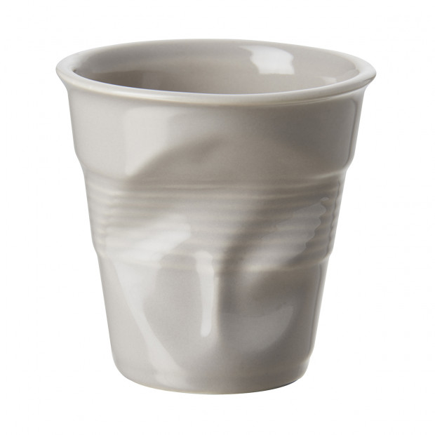 Crumpled coffee cup taupe