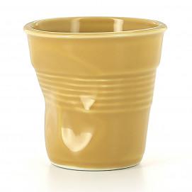 Crumpled coffee cup saffron