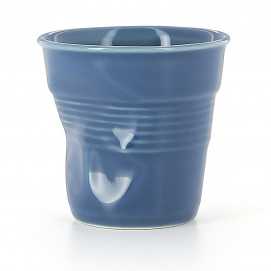 Crumpled coffee cup ultramarine 2 sizes