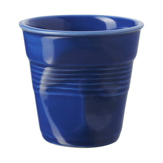 Crumpled coffee cup navy blue 2 sizes