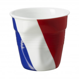 Crumpled espresso cup French flag