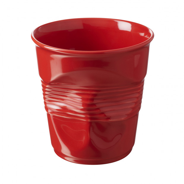 Crumpled pepper red utensil jar