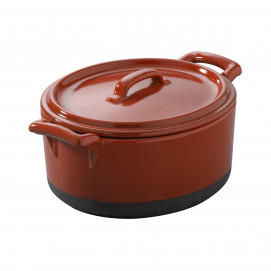 Eclipse pepper red cocotte with lid