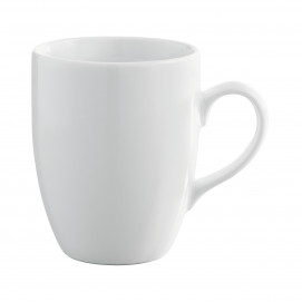 French Classics white mug with handle and round edges