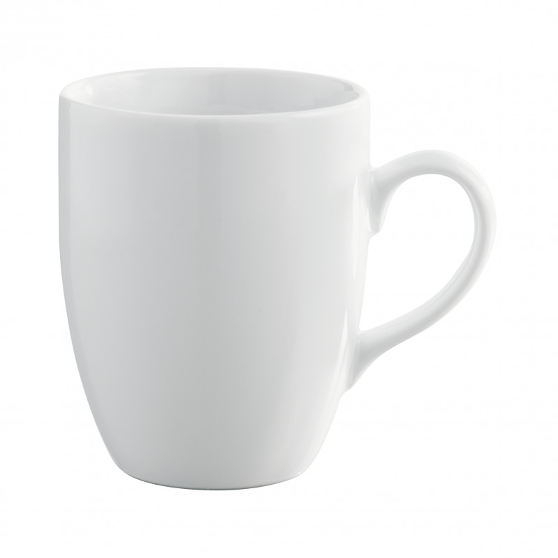 Round Edges White Coffee Cup Porcelain Mug For An Everyday Use Family Style Premium Quality Resistant Does Not Chip