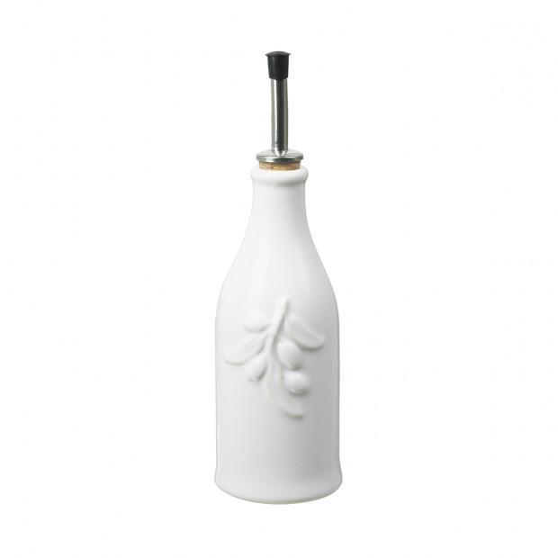 French Classics white porcelain provence olive-oil bottle
