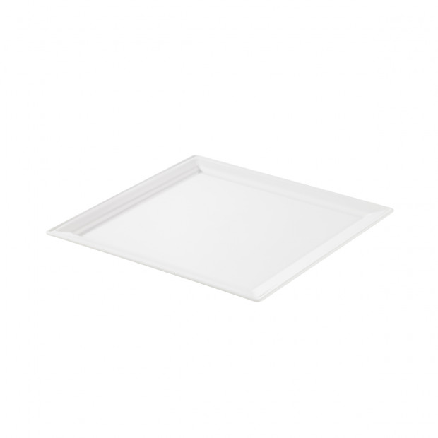 Time Square white square dinner plate 3 sizes