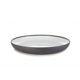 Solid white gourmet plate Ø10.75""