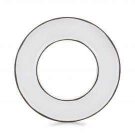 ring center piece for mise en bouche caractere, white cumulus
