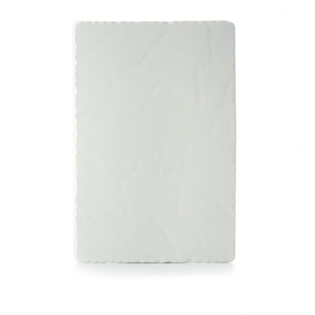 Basalt pearly white rectangular appetizer plate 2 sizes