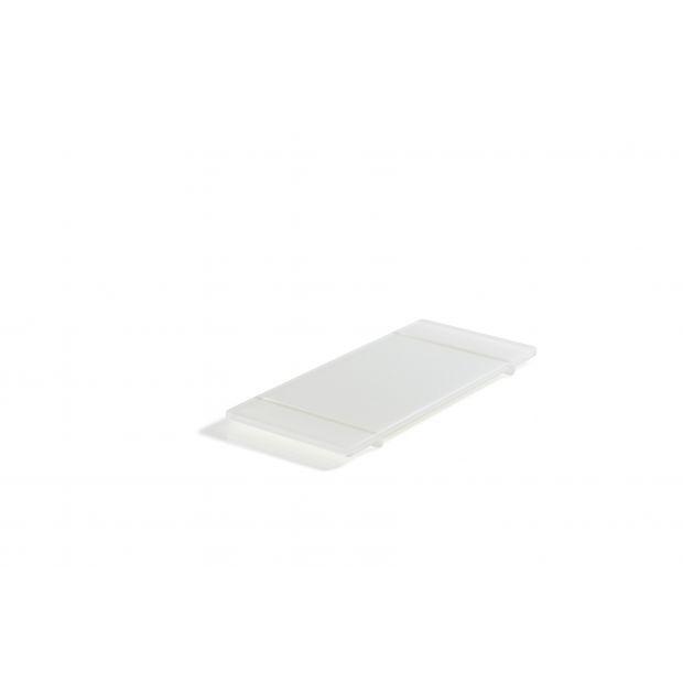 white nacryl foodted tray