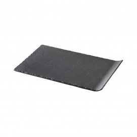 BASALT RECT. PLATE 1 CURVED EDGE