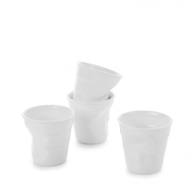 "Set of 4 crumpled cups Ø2.5"", H2.5"""