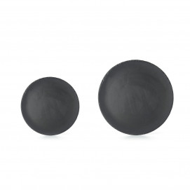 Basalt matt slate style round dinner plate 2 sizes