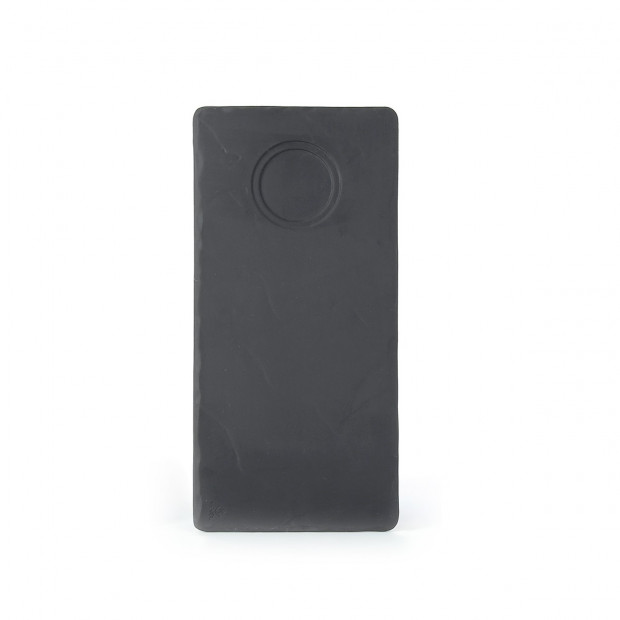 Basalt matt slate style rectangular slate with indent