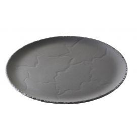 set of 4 basalt round plate, 2 sizes