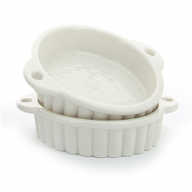 Set of 2 Les Naturels soft cream tartlet pans