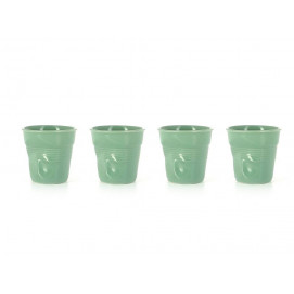 Set of 4 crumpled cups sage