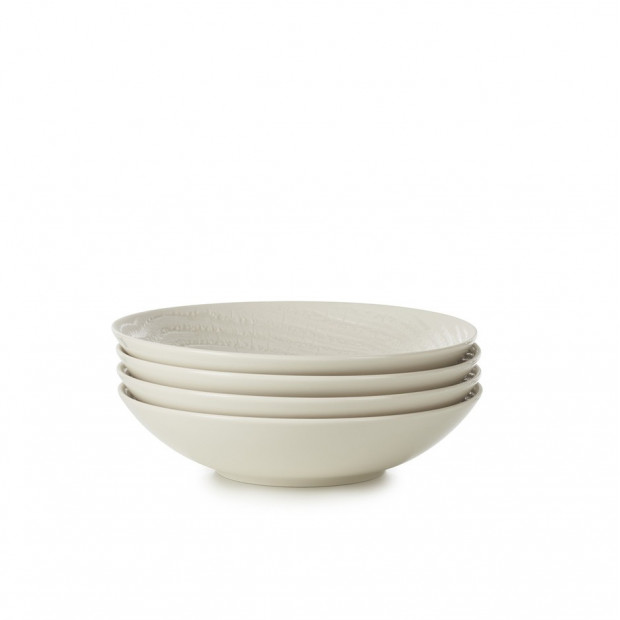 """Set of 4 Arborescence coupe plates 9.5"""" 3 colors"""