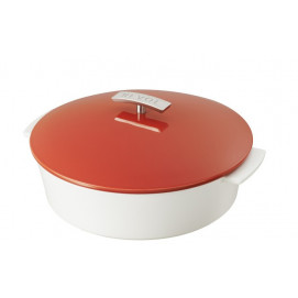 "Revolution shallow round dutch oven 3.8QT pepper red ø11"""
