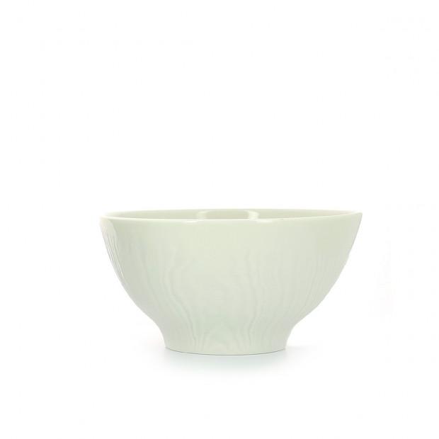 Bol petit déjeuner en porcelaine effet bois
