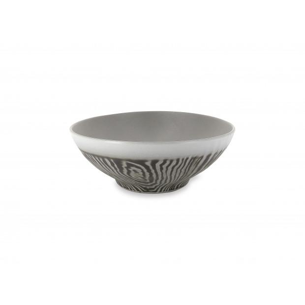 Saladier en porcelaine effet bois