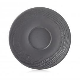 Sous-tasse en porcelaine effet bois - Réglisse