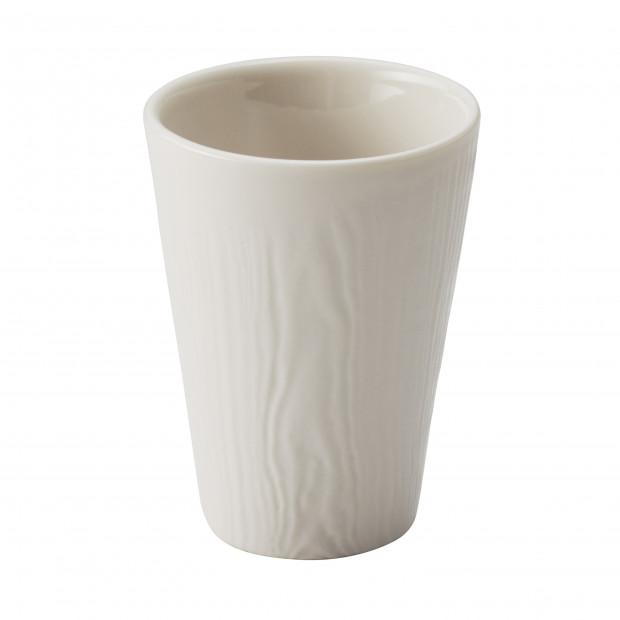 Tasse en porcelaine effet bois - Ivoire