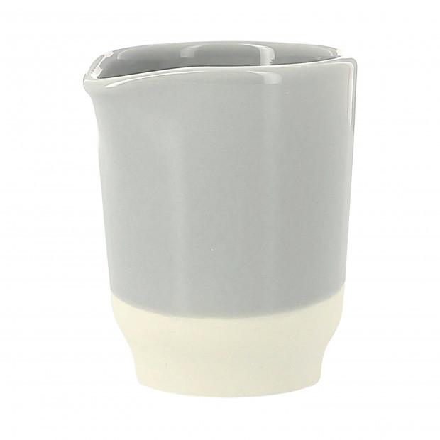 Crémier coloré en porcelaine - Gris Stratus