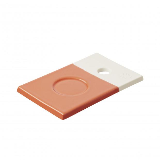 Petite planche colorée en porcelaine - Orange Capucine