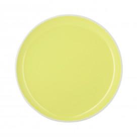 Assiette plate colorée en porcelaine - Jaune Citrus