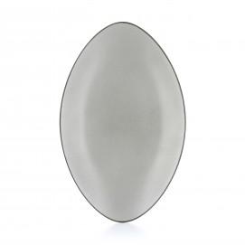 Assiette ovale en céramique - Poivre