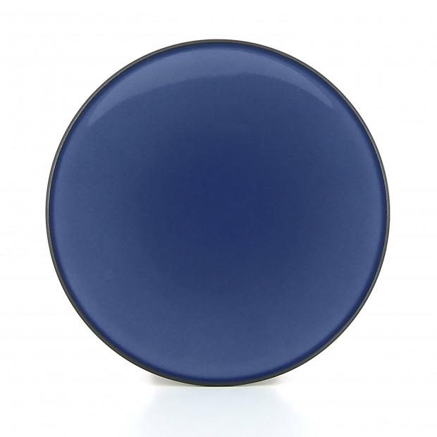 Assiette plate en céramique - Bleu Cirrus