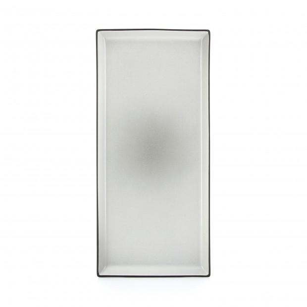 Assiette rectangulaire en céramique - Poivre