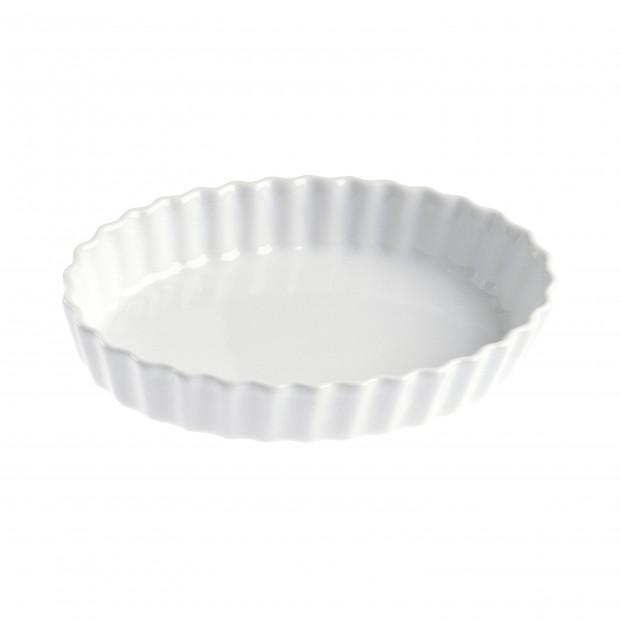 Tourtière ronde en porcelaine - Blanc