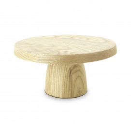 Plat à gâteau sur pied en bois - Frêne