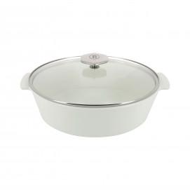 Cocotte ovale en céramique sans induction - Verre