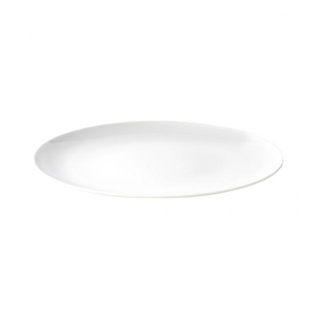 assiette de presentation en porcelaine blanche - les essentiels