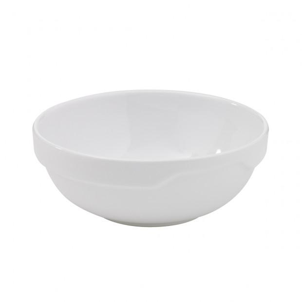 saladier londres en porcelaine blanche - les essentiels