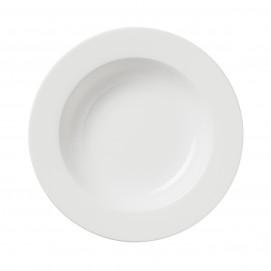 assiette creuse alaska en porcelaine blanche - les essentiels
