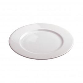 assiette plate alaska en porcelaine blanche - les essentiels