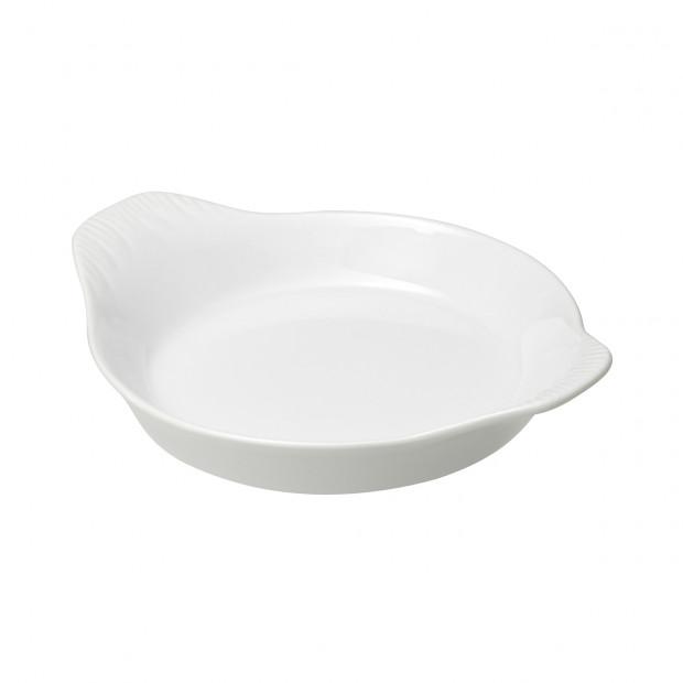 plat à oeufs en porcelaine blanche - french classics
