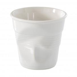 tasse ristretto froissée en porcelaine blanche - les froissés