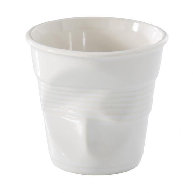 Tasse Gobelet Froissé Ristretto Unie en porcelaine 5 cl
