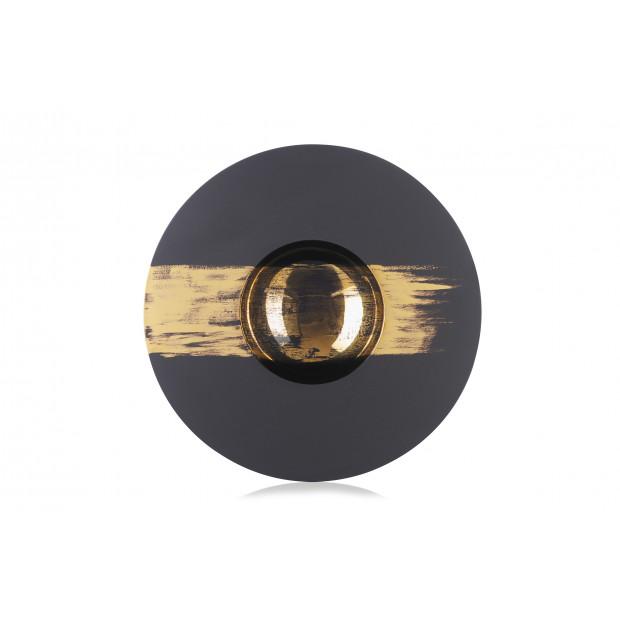 assiette sphère tempo or 2 - solid